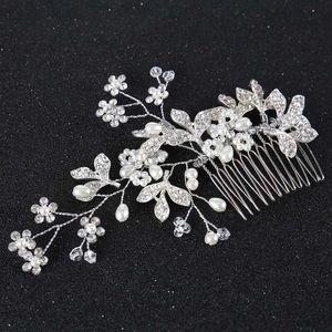 Hair comb crystal pin pearl comb clip diamond